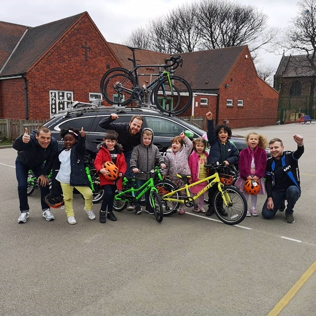 Giant bikes for Sheffield kids. 26/3/19.